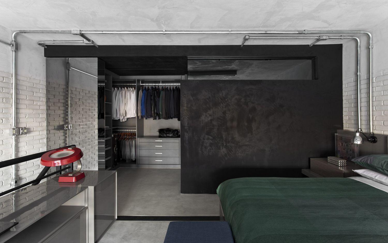 Двухэтажный лофт в индустриальном стиле