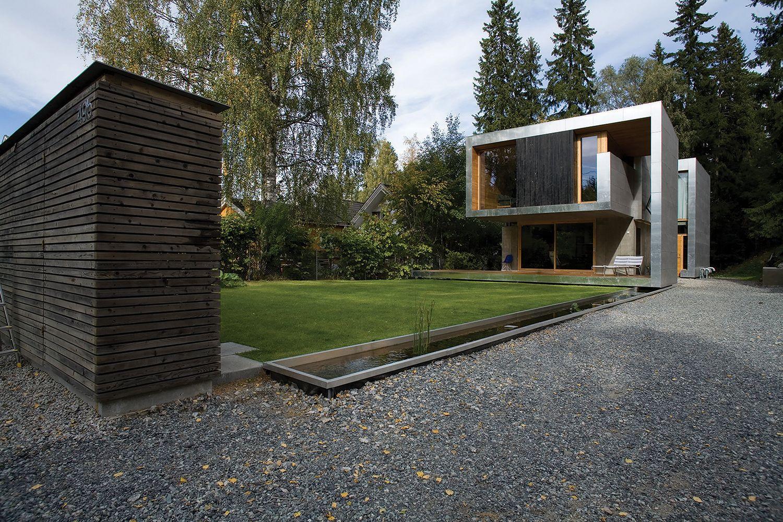 Современный дом в норвежской деревне