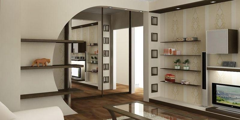 Арочный гипсокартон - арка в квартире