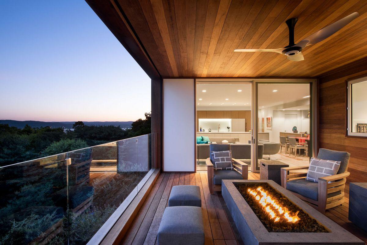 Дом в США с видом на реку Гудзон