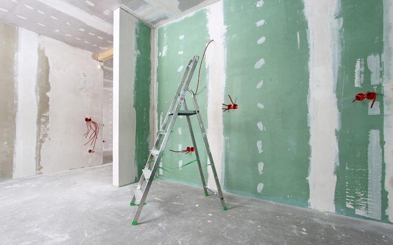 Обшивка стен гипсокартоном (ГКЛ)