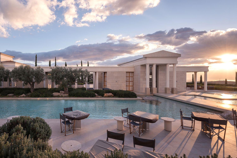 Отель Amanzoe в сердце греческой Ривьеры