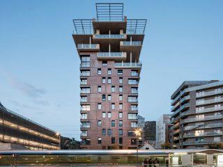 Интересная многоэтажка в городе Гренобль