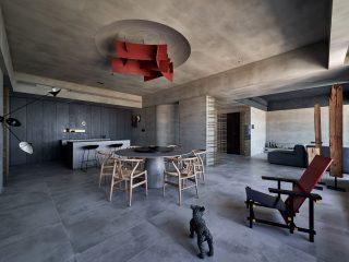 Аскетичный интерьер дома в Тайване