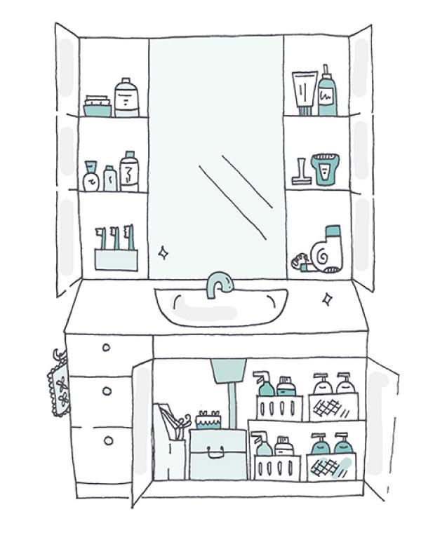 Иллюстрация «радостной ванной» из книги «Искры радости»