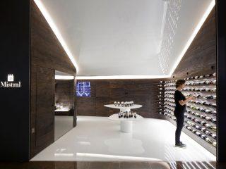 Интерьер винного магазина Mistral Iguatemi