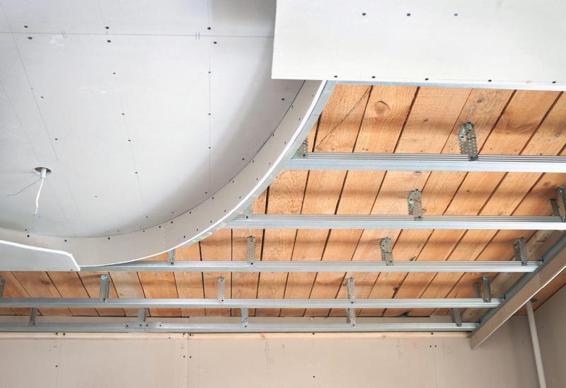 Потолок из гипсокартона конструкция