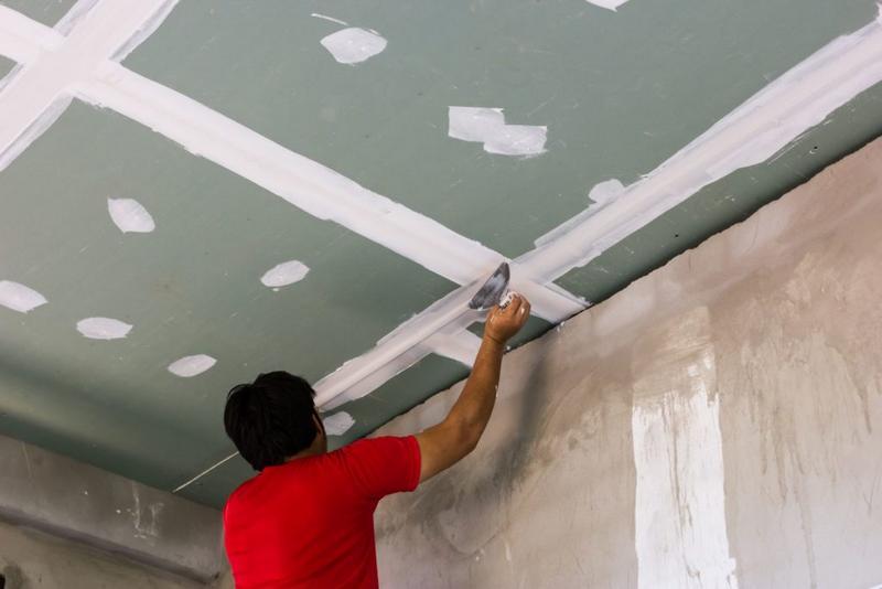Как шпаклевать потолок из ГКЛ