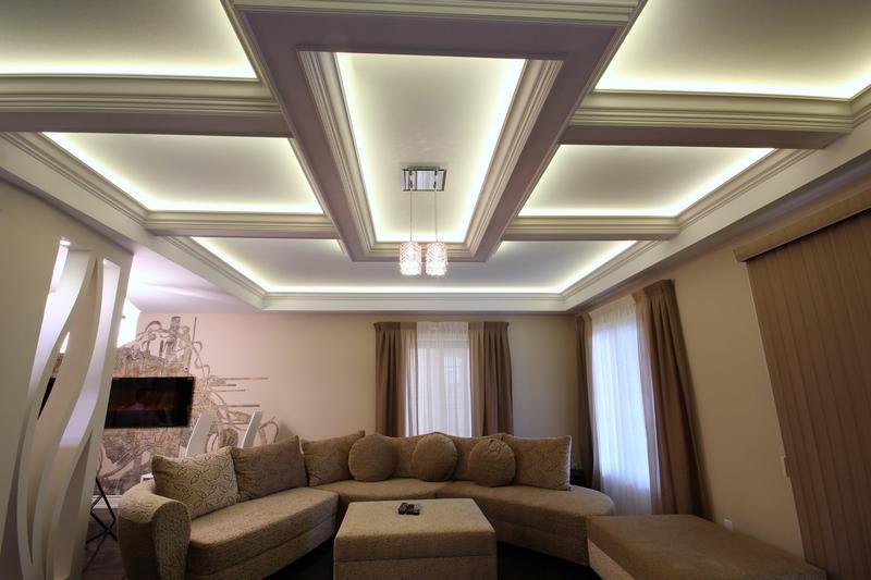 Многоуровневый потолок из гиспокартона
