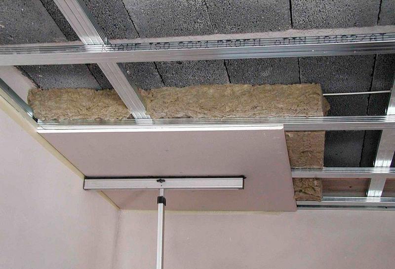Утепление потолка из ГКЛ 2